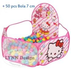 Cara Beli Lynn Design Tenda Keranjang Kolam Mandi Bola Anak Doraemon Hello Kitty 50 Pcs Bola