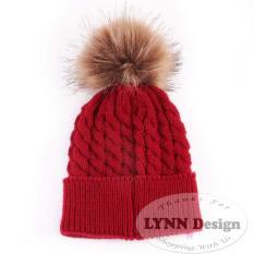 Lynn Design- Topi pom pom rajut Bayi & Anak korean (0-18 bulan