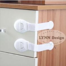 Lynn Design_2 pcs Klip Pengunci Pintu Lemari / Kulkas untuk Pengaman Anak-Anak