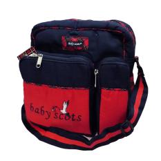Lynx Candy Tas Bayi Baby Scots Medium - Baby Embroidery Medium Bag - Biru