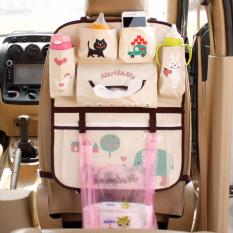 Spesifikasi Lynx Car Seat Back Organizer Bag Cute Kartun Multi Pocket Insulation Thermal Storage Holder Tas Kursi Jok Mobil Yang Bagus