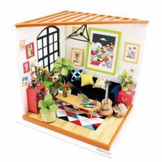 Lynx DIY Miniatur Miniature House Set Model Home Decor With LED Furniture - Music Living Room