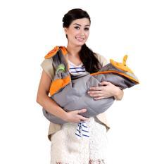 Jual Lynx Gendongan Samping Dialogue Saku Celemek Apron Ibu Menyusui Cute Series Dgg 4127 Orange Lynx Ori