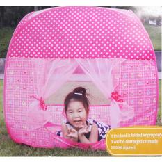 Lynx Tenda Bermain Anak Play Tent Foldable Pop Up House Balls Pool For Kids Indoor and Outdoor - Sweet Pink