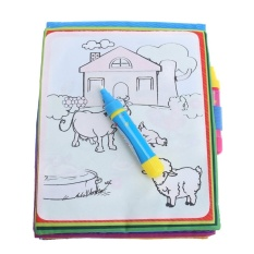 Magic Water Drawing Book Kids Animals Painting Doodle Book Toy - intl