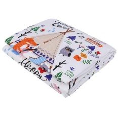 MagiDeal Cotton Breathable Waterproof Underpads Mattress Pad Pelindung Lembar Foxs Burung-Intl