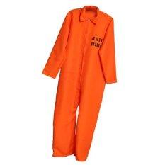 MagiDeal Tahanan Keseluruhan Jumpsuit Convict Stag Do Pesta Fancy Dress Kostum Dewasa-Intl