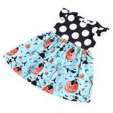 MagiDeal Anak Balita Baby Girls Halloween Labu Putri Pakaian Pakaian 5 T Cetak-Internasional