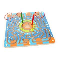 Magnetic Brush Maze Menjelajahi Kemampuan Mengembangkan Pena Kayu Maze Mainan Pendidikan--Intl
