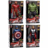 Promo Mainan 4 In 1 Action Figure Avengers Ironman Thor Captain America Hulk Kecil Small Mambeioo
