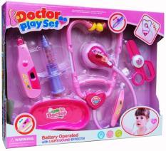 Mainan Alat Kedokteran - Doctor Play Set Pink Pack B-Mainan Anak