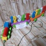 Spesifikasi Mainan Alfaqih Mainan Edukasi Anak Kereta Angka Kayu Baru