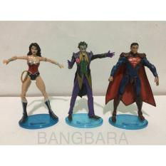Mainan anak action figure superman,wonder woman & joker