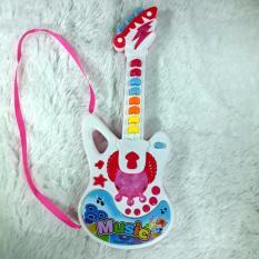 Spesifikasi Mainan Anak Balita Gitar Musik Pink Merk Honey Bee Babyshop