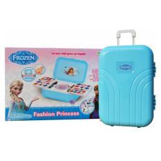 Mainan Anak Dandan Make Up Set Koper Suitcase Biru Frozen The Nail Art
