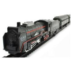 Spesifikasi Mainan Anak Laki Rail King Train Set Led Light Mainan Kereta Api Lokomotif Dan Harga
