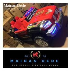 Mainan Anak Mobil Aki Jeep Skunk 2 Seater Pmb M6168 Murah - Eee963 - Original Asli