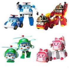 Mainan anak robocar poli 4 in 1 set transformer mobil robot