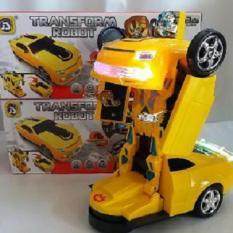 Mainan Anak - Super Change Robot tobot transformer Mobil Jadi Robot maju mundur bersuara Menyala