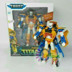 Mainan anak tobot mini tritan 2 cars combine