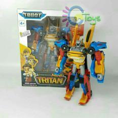 Mainan anak tobot tritan 3 cars combine