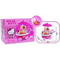 Mainan Belanja Shopping Jualan Anak Ice Cream Candy Cart Hello Kitty