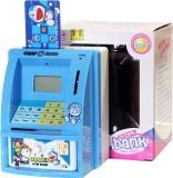 Beli Mainan Celengan Atm Ukuran Mini Dengan Bahsa Indonesia Biru No Brand