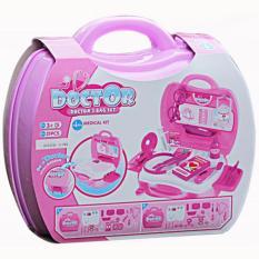 Mainan Doctor Set Anak Koper Pink Dokter - Dokteran Anak