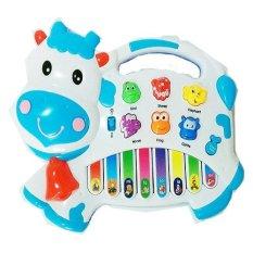 Mainan Eduka Early Learn Piano Sapi - Putih