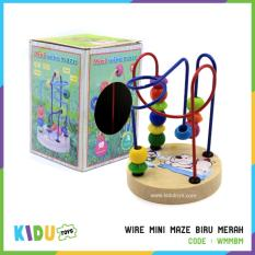 Review Mainan Edukasi Anak Wire Mini Maze Biru Merah Kidu Toys Terbaru