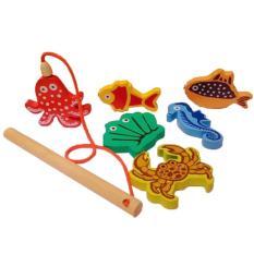 Mainan Edukasi / Edukatif Kayu Mancing Mania (Tipe Hanger)