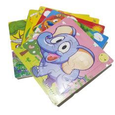 Mainan Edukasi Puzzle kayu gambar 9 keping