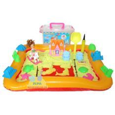 Spesifikasi Mainan Pasir Ajaib Kinetik Play Sand Super Jumbo Dengan Beauty Furniture Dan Kuda Barbie Murah Berkualitas