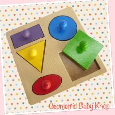 Mainan Edukatif Edukasi Anak Puzzle Balok Kayu Geo Baby Knop 5 Import Terlaris Terbaru