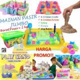 Promo Mainan Edukatif Pasir Ajaib Kinetik Play Sand Paket Jumbo 2 Kg Murah