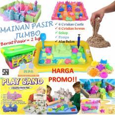 Jual Mainan Edukatif Pasir Ajaib Kinetik Play Sand Paket Jumbo 2 Kg Di Bawah Harga