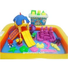 Harga Mainan Edukatif Pasir Ajaib Paket Play Sand 1Kg Dengan Parking Dog Dan Spesifikasinya