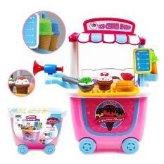 Mainan Jualan Es Krim Supermarket Ice Cream Shop Trolley No. 8342
