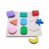 Mainan Kayu Azka Puzzle 9 Bentuk Timbul Indonesia Diskon 50