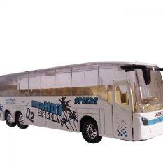 Mainan Kendaraan Mobil Mobilan Bis Mini Anak - Die Cast Metal New Bus MK-3 ( White )