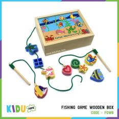 Mainan Kolam Pancing  Fishing Game Wooden Box Kidu Toys