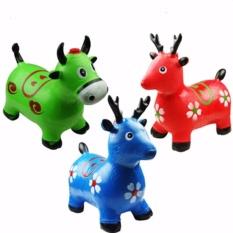 Animal Jumping Mainan Kuda-Kudaan Karet Anak Dengan Bunyi Musik - Random Color By A Prime Universe.