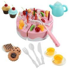 Spesifikasi Mainan Kue Ulang Tahun Diy Fruit Cake Pink Besar 54 Pcs No 889 23A Dan Harga