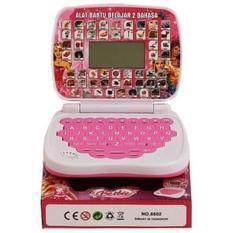 Mainan Laptop Mini dengan Layar 2 bahasa- Mainan anak murah