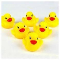 Mainan Mandi Anak - Mainan Anak Bebek Karet Mini Bunyi  Kuning