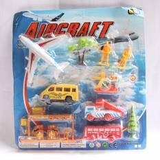 Mainan Miniatur Bandara Anak / Aircraft - Air Combat Simulator / Airport Miniature Murah