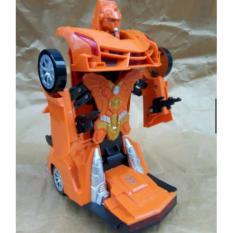 Mainan Mobil Berubah Robot Transforming (Bumping + Lampu Nyala)