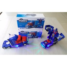 Mainan Mobil Jadi Robot Model Transformers Optimus Prime