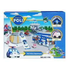 Ulasan Mainan Mobil Mobilan Robocar Poli Police Department Xz 156 Parking Set