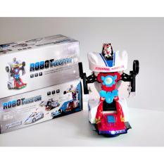 Jual Mainan Mobil Mobilan Robot Races Car Police 2 In 1 Otobot Transform Online